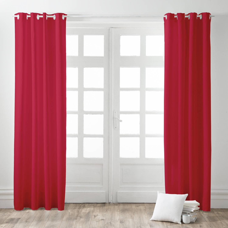 Today Kant en Klaar Gordijn Rood - 140cm x 260cm