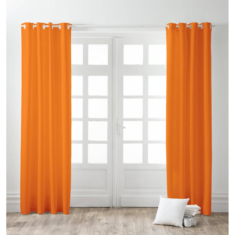 Today Kant en Klaar Gordijn Verduisterend Oranje - 140cm x 260cm