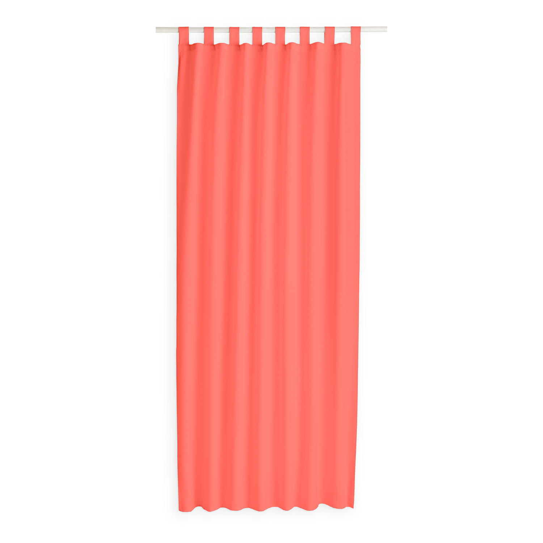 Today Kant en Klaar Gordijn Met Lus Koraal Roze - 140cm x 260cm