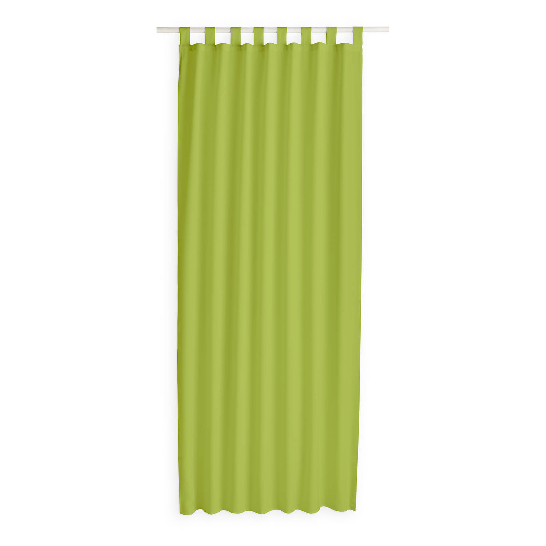 Today Kant en Klaar Gordijn Met Lus Groen - 140cm x 260cm