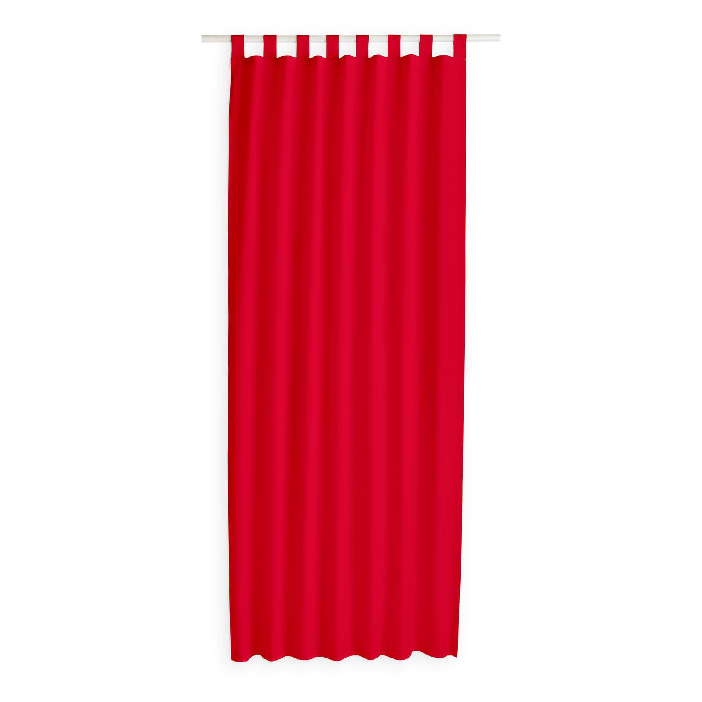 Today Kant en Klaar Gordijn Met Lus Rood - 140cm x 260cm