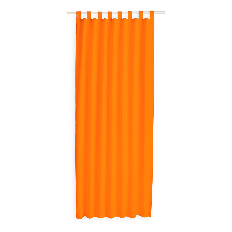 Today Kant en Klaar Gordijn Met Lus Oranje - 140cm x 260cm