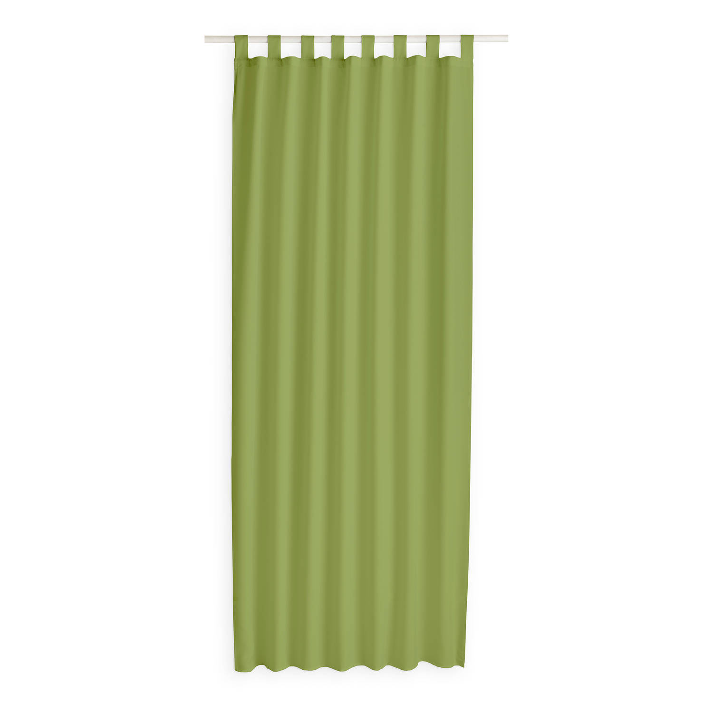Today Kant en Klaar Gordijn Met Lus Bamboe Groen - 140 x 260cm