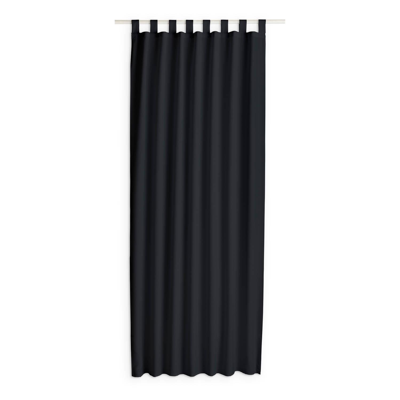 Today Kant en Klaar Gordijn Met Lus Zwart - 140cm x 260cm