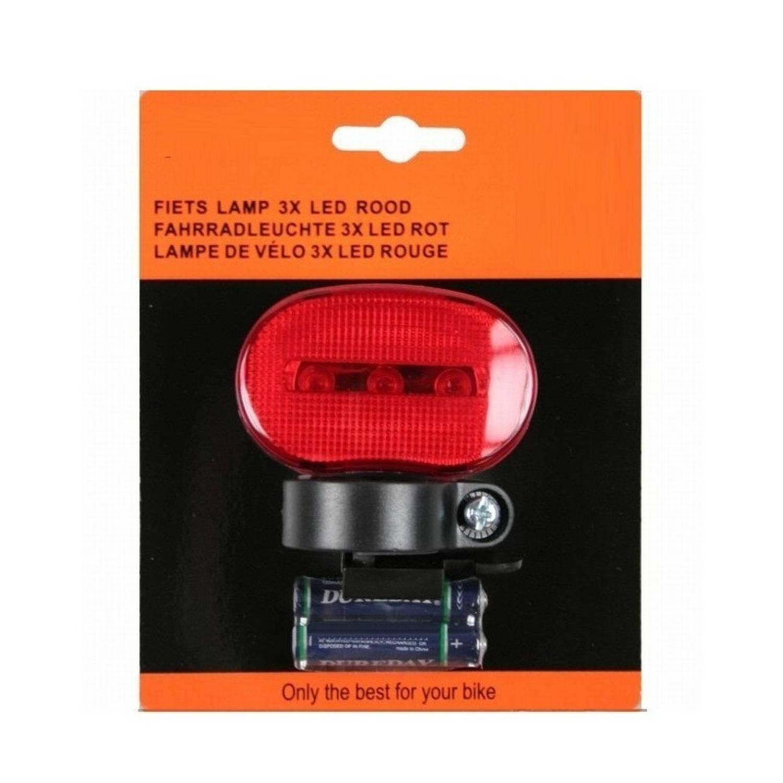 fietsverlichting led achterlicht inclusief batterijen fietslampje