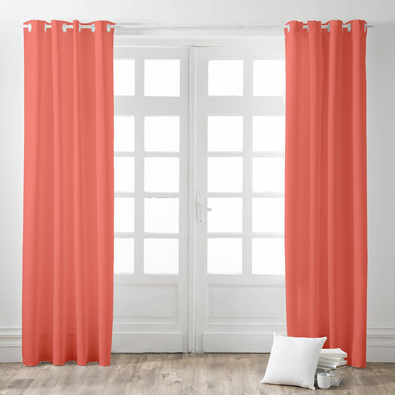 Today Kant en Klaar Gordijn Koraal Roze - 140cm x 260cm