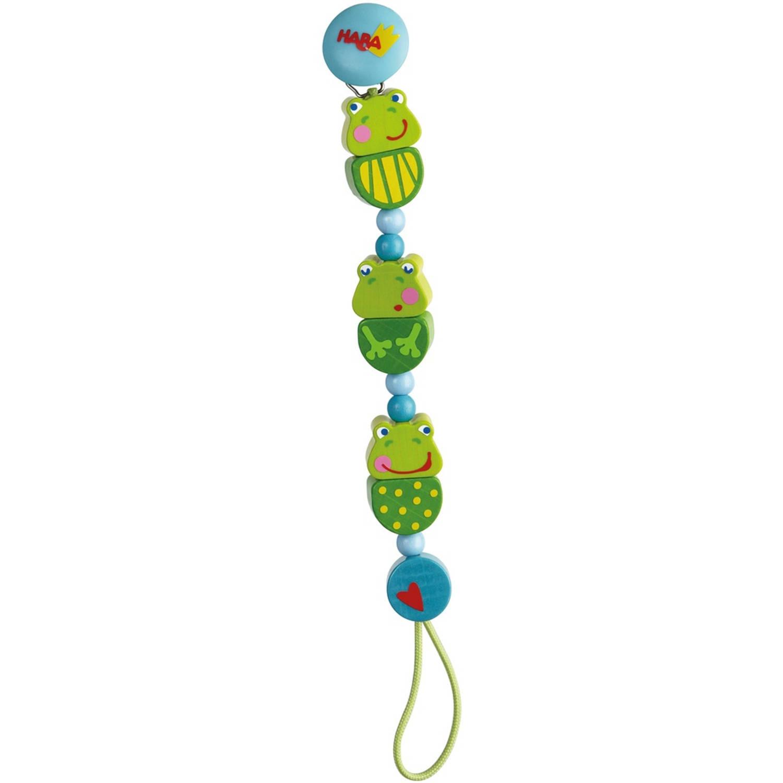 Haba Houten Fopspeenketting Kikkerconcert 22 Cm Groen blauw