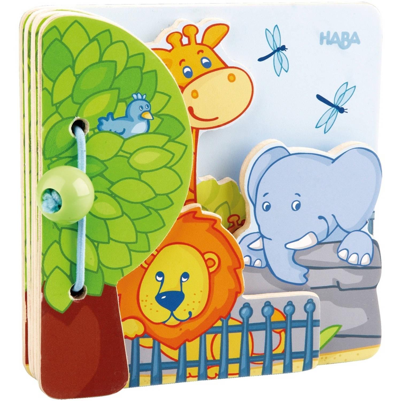 Haba babyboek dierentuinvrienden 12,5 cm