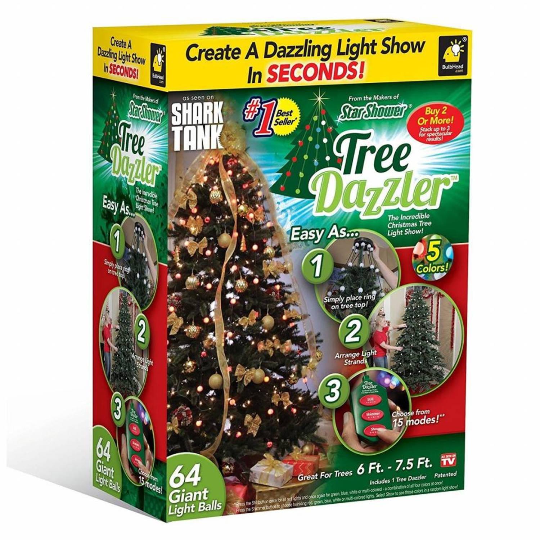 Bekend van TV Tree Dazzler - Kerstverlichting 64 LED met 16 kleuren en motieven
