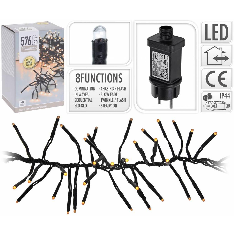 Kerst Microcluster Extra Warm Wit 576 LED met 8 standen