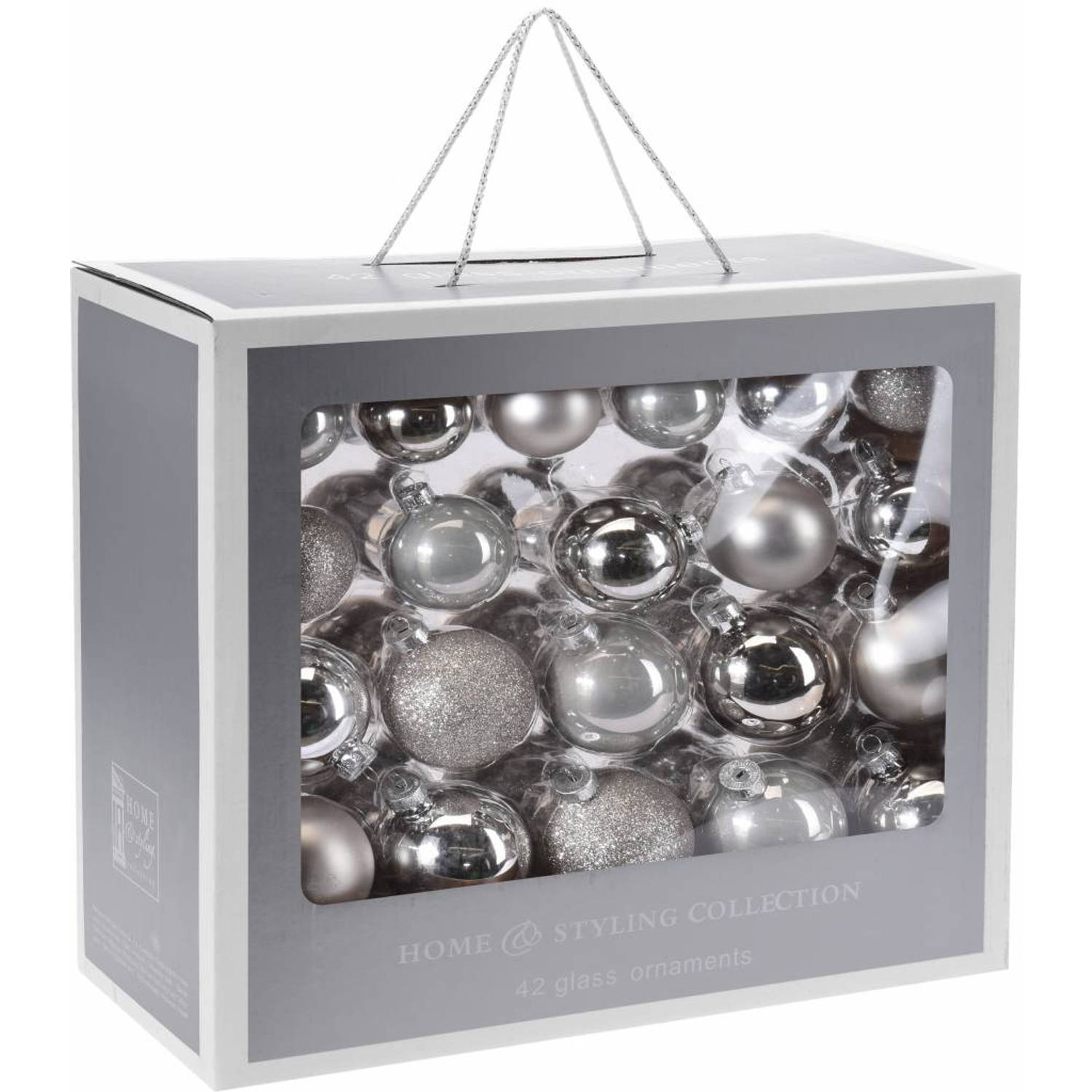 Home & Styling Collection 42-Delige glazen kerstballen set Treasure