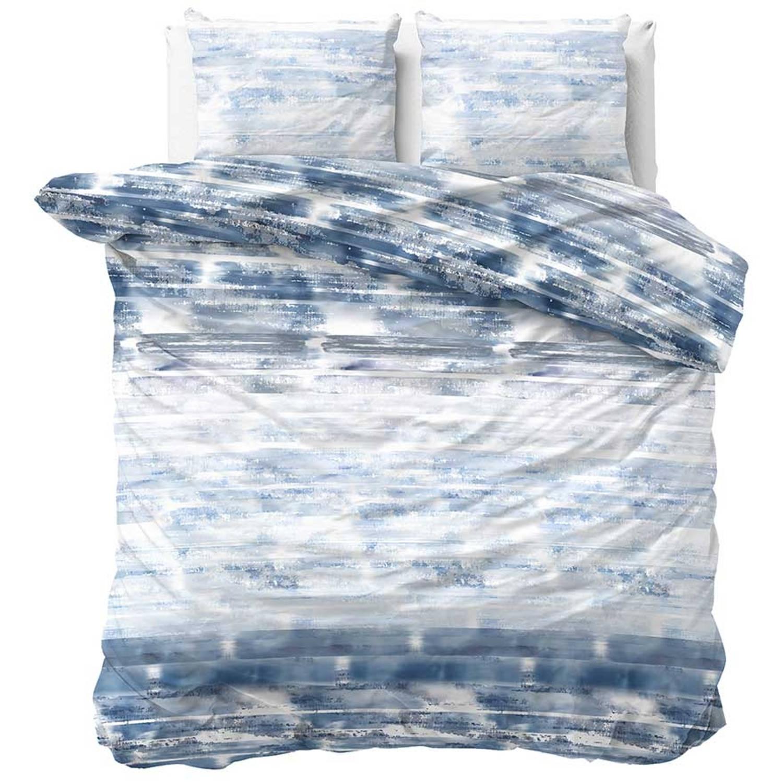 Sleeptime Dekbedovertrek Shibori Tiles Blauw-240x200/220