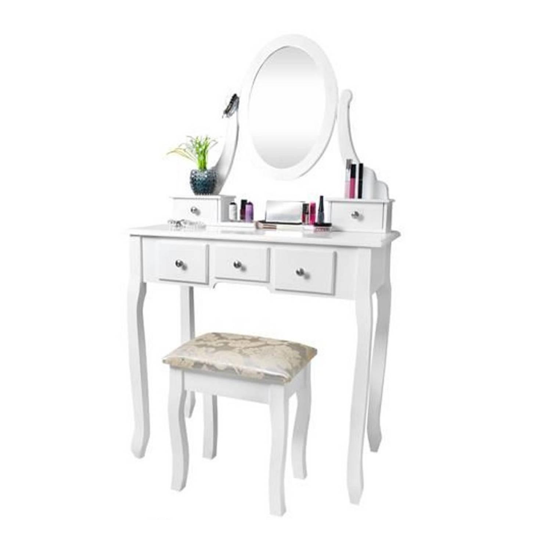 Betere Make-Up Cosmetica Visagie Tafel - Kaptafel Met Spiegel En Kruk LE-08