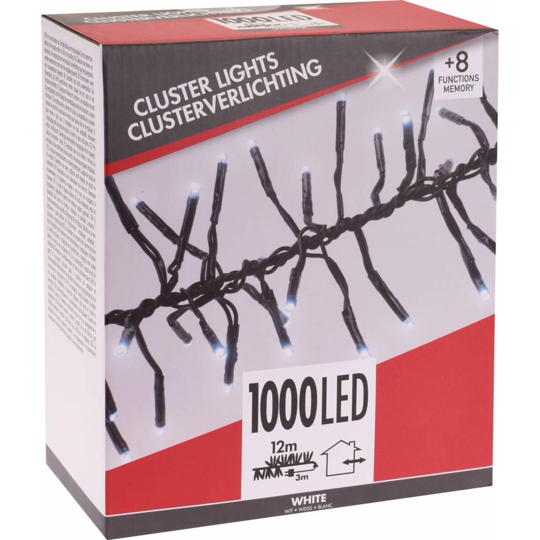 Kerst Microcluster Wit 1000 LED met 8 standen