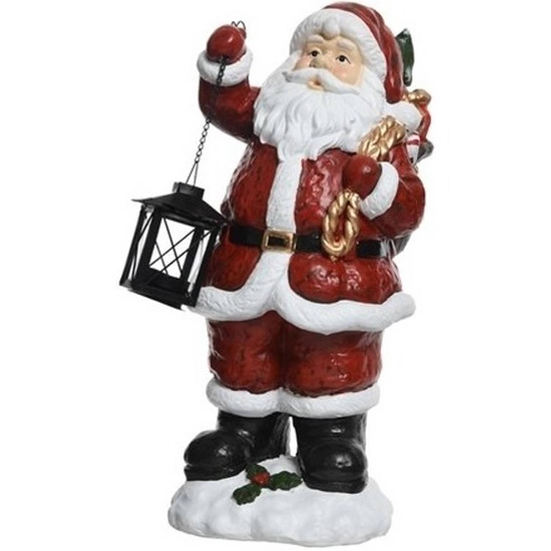 Kerstman beeld met cadeauzak 46 cm
