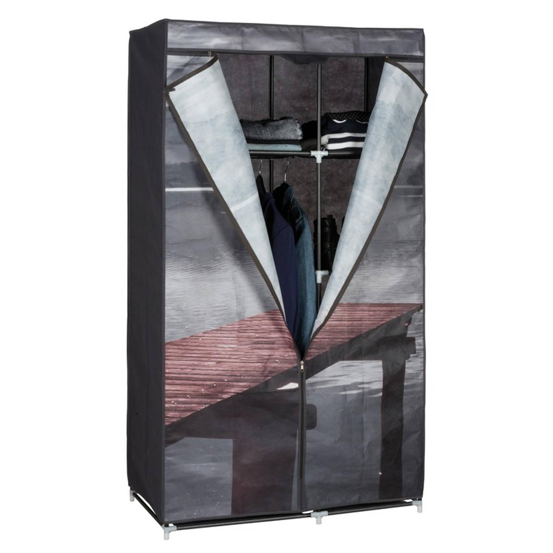 Mobiele opvouwbare kledingkast/garderobekast 160 cm lake - Camping/zolder