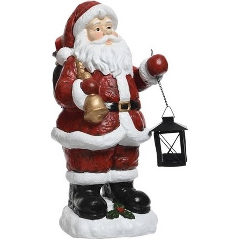 Kerstman beeld met bel 46 cm