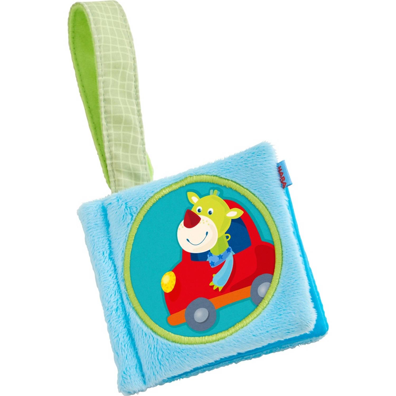 Haba babyboek Draak Duri 12 x 10 cm blauw
