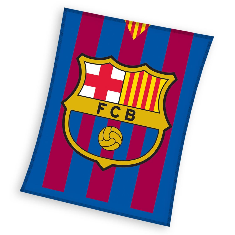 FC Barcelona fleece-deken 110 x 140 cm blauw/rood
