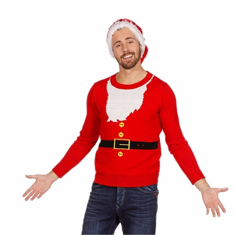 Kersttrui kerstman voor heren 50 (M)