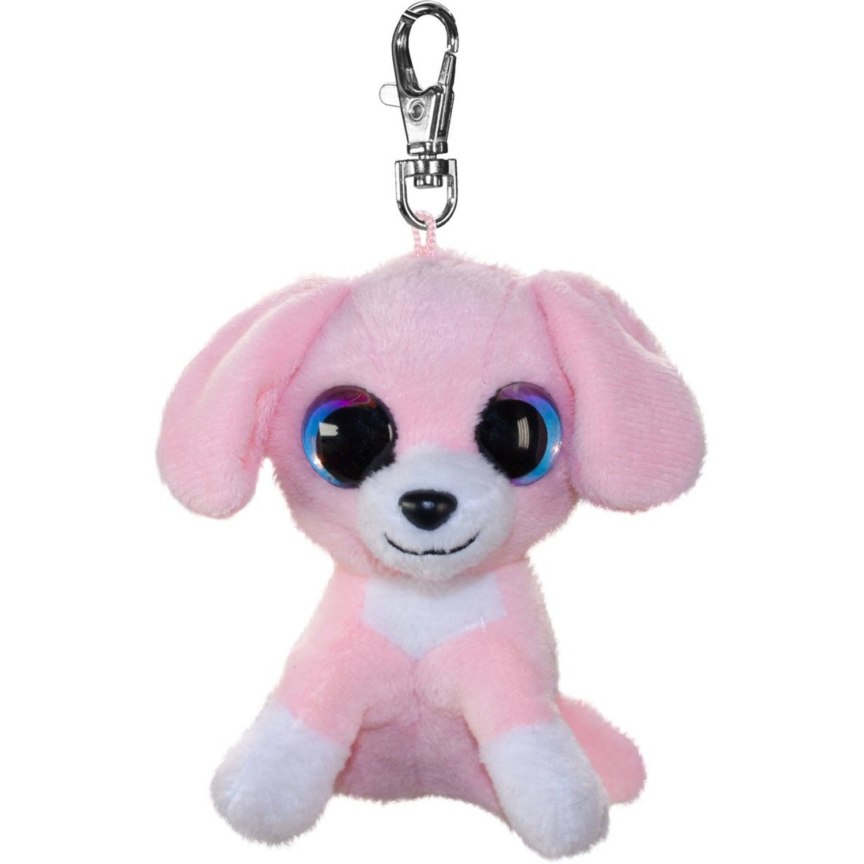 Korting Lumo Stars Sleutelhanger Lumo Dog Pinky Met Clip Roze 8,5 Cm