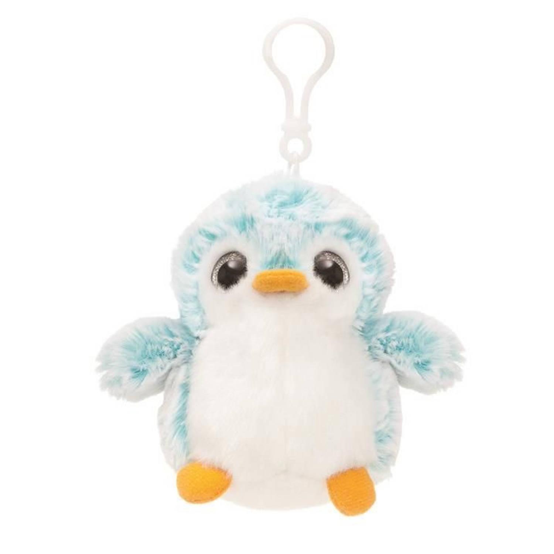 Afbeelding van Aurelia Pompom pinguïn sleutelhanger blauw 10 cm