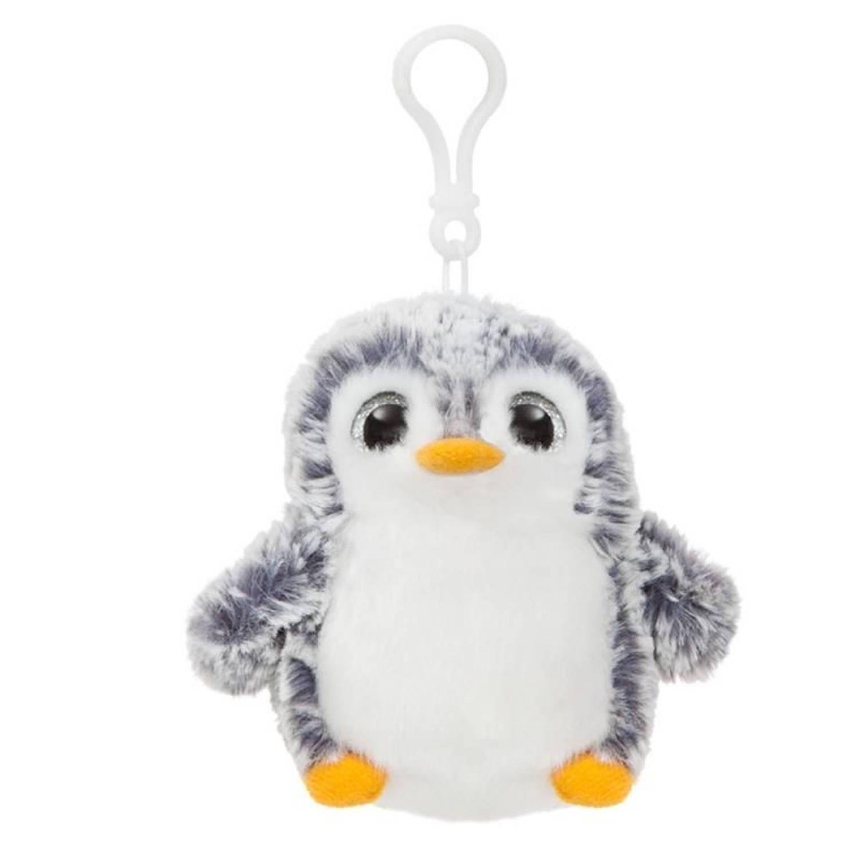 Afbeelding van Aurelia Pompom pinguïn sleutelhanger grijs 10 cm