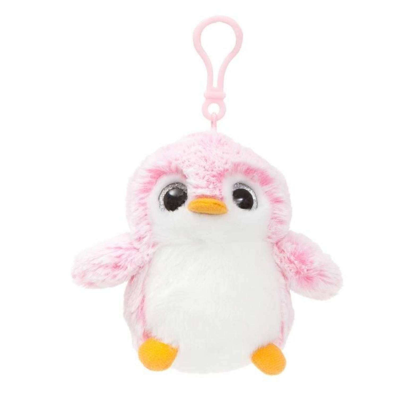 Afbeelding van Aurelia Pompom pinguïn sleutelhanger roze 10 cm
