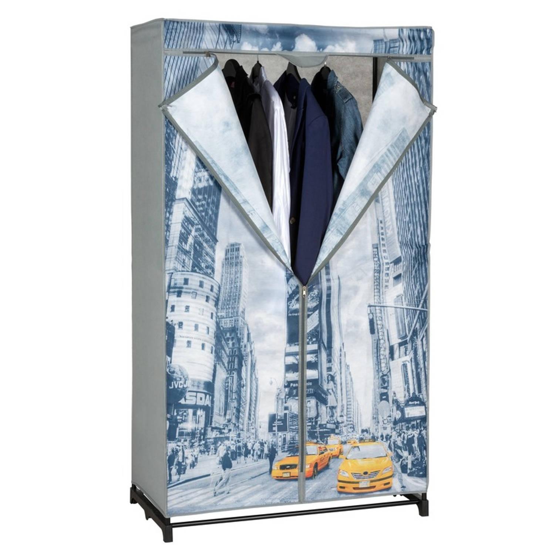 Mobiele opvouwbare kledingkast/garderobekast 156 cm New York - Camping/zolder