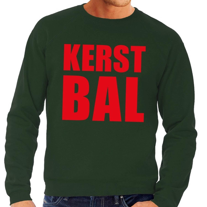 Foute kersttrui / sweater Kerst Bal groen voor heren - Kersttruien M (50)