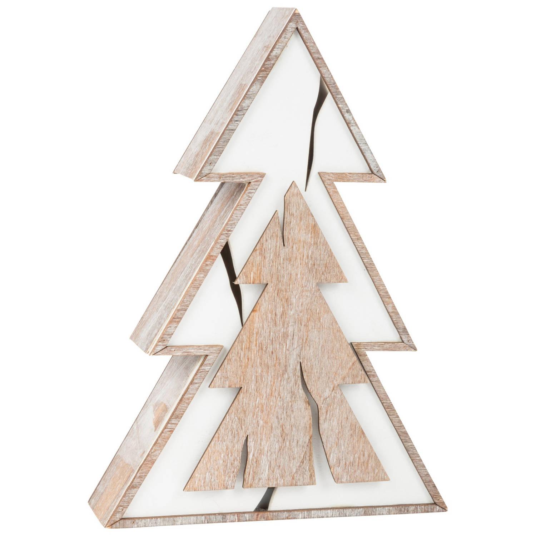 Small Foot houten kerstboom met licht 18 cm
