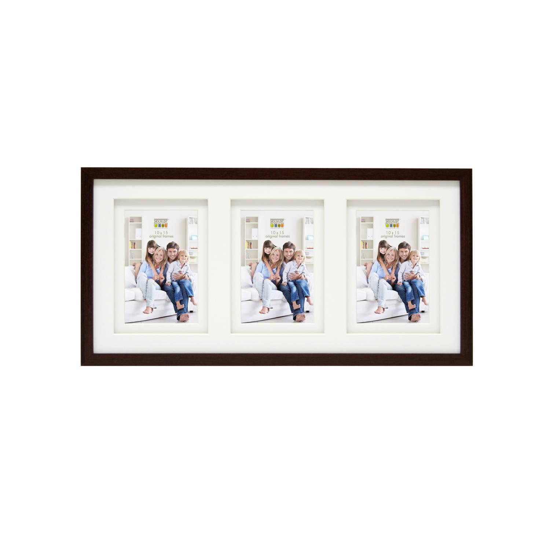 Deknudt Frames collage fotolijst - 3 foto's van 10x15 cm