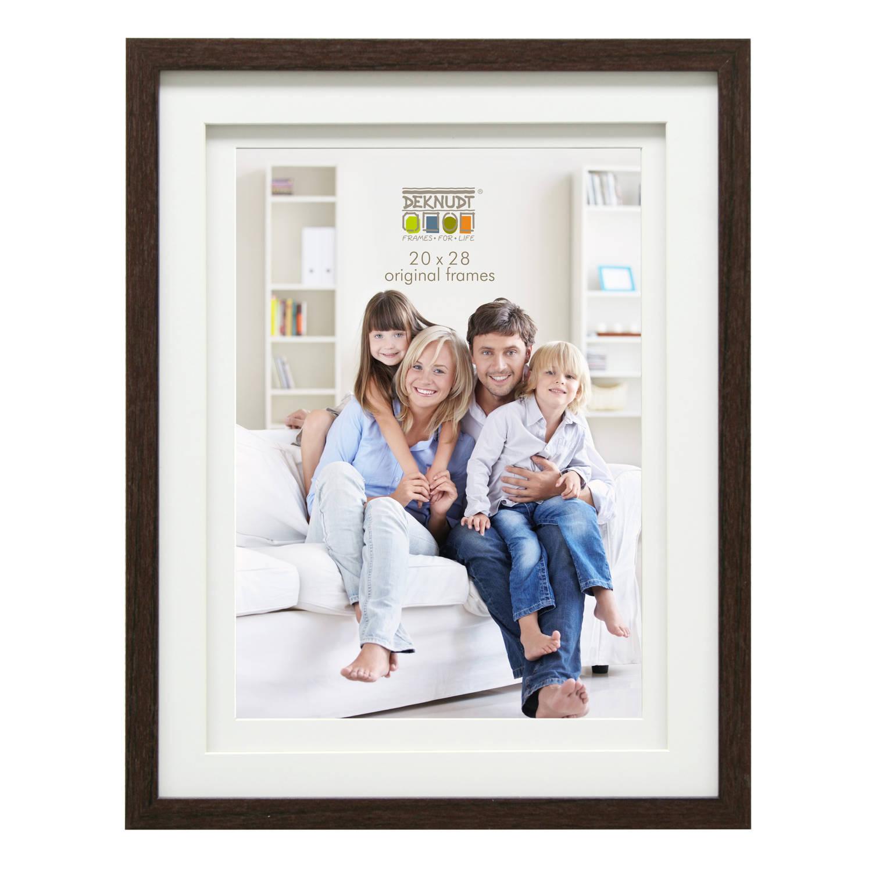 Deknudt Frames fotolijst - bruin - dubbele passe-partout - 20x30 cm