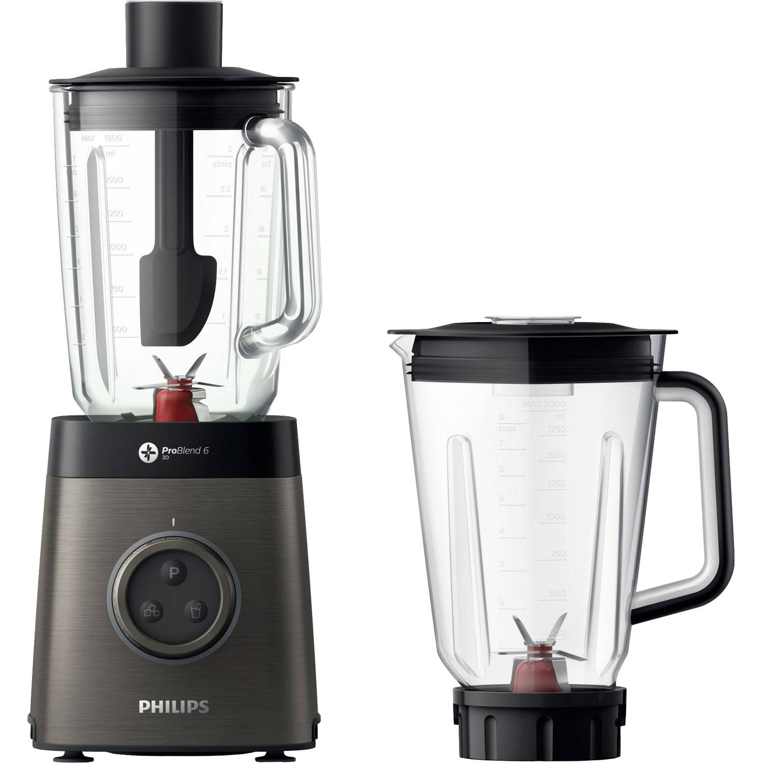 Philips blender Avance Collection HR3657/90 - grijs