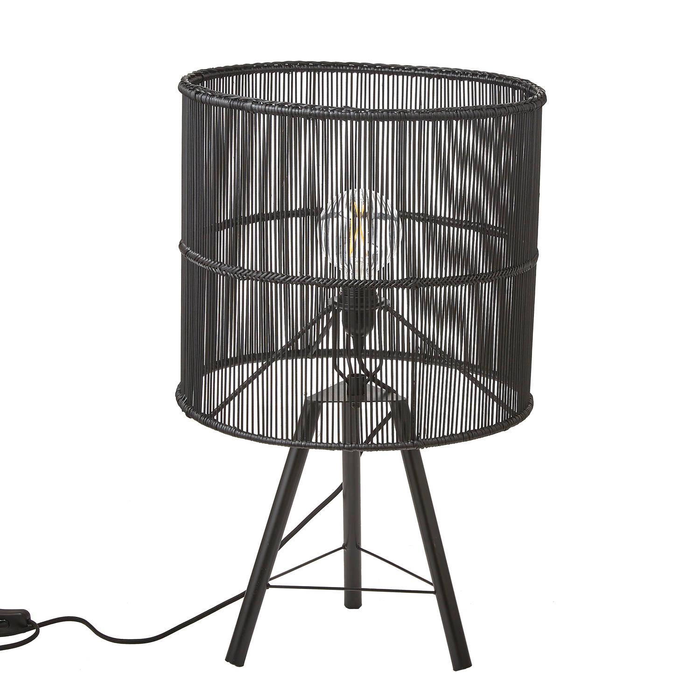 Mica Decorations Joice tafellamp - zwart - 75x32 cm