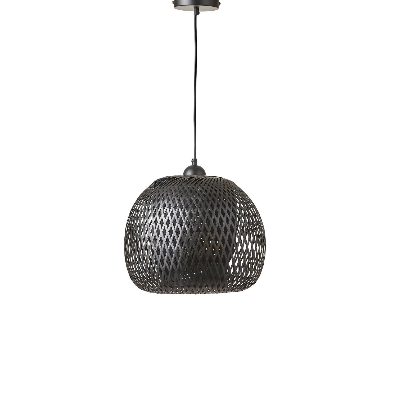 Mica Decorations Boris hanglamp - zwart - 29x33 cm