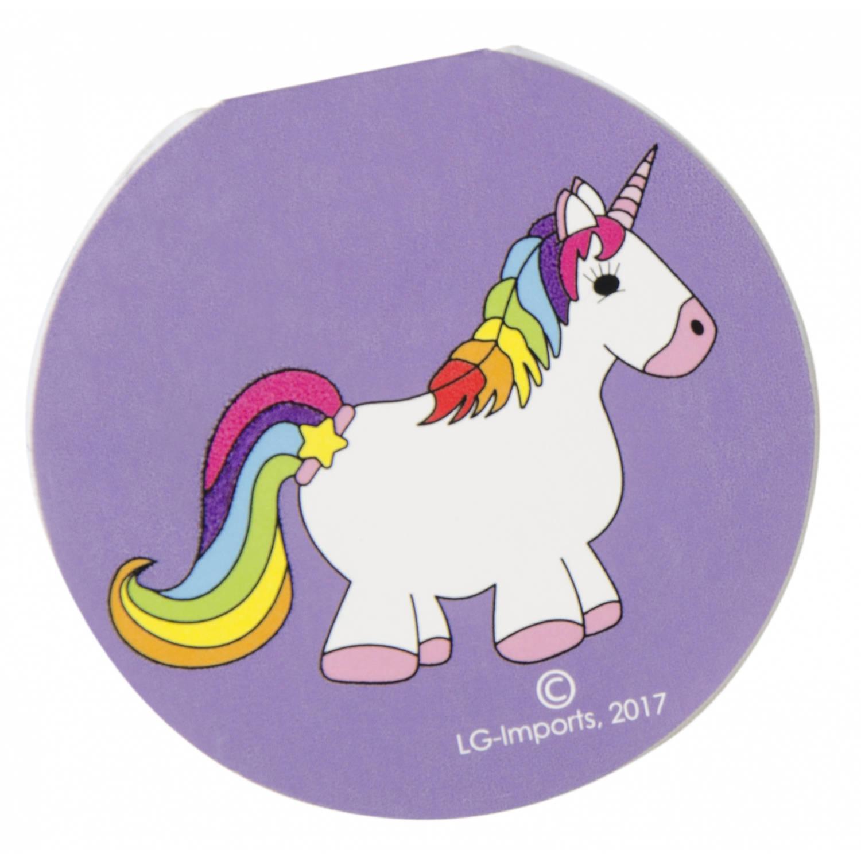 Korting Lg imports Memoblokje Unicorn 8 Cm Paars
