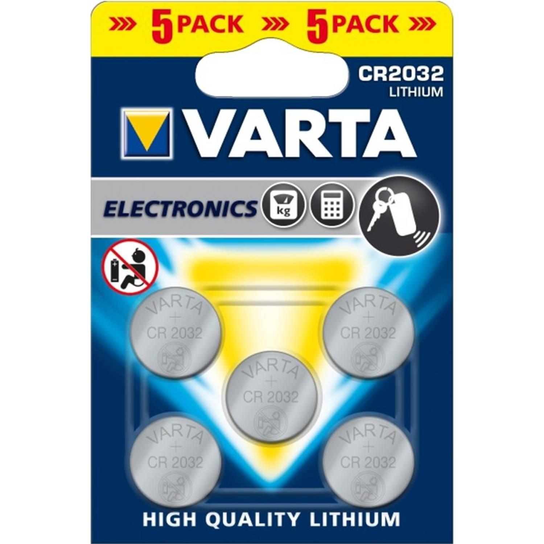 100 Stuks VARTA CR2032 knoopcel batterij (20 Blisters a 5st)