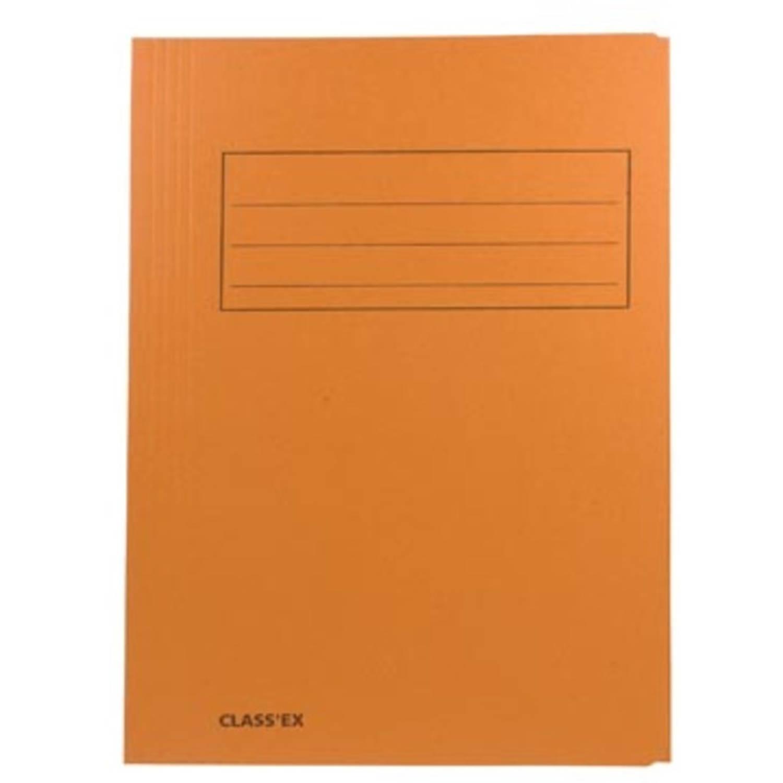 Korting Class'ex Dossiermap, 3 Kleppen Ft 23,7 X 34,7 Cm (Voor Ft Folio), Orange