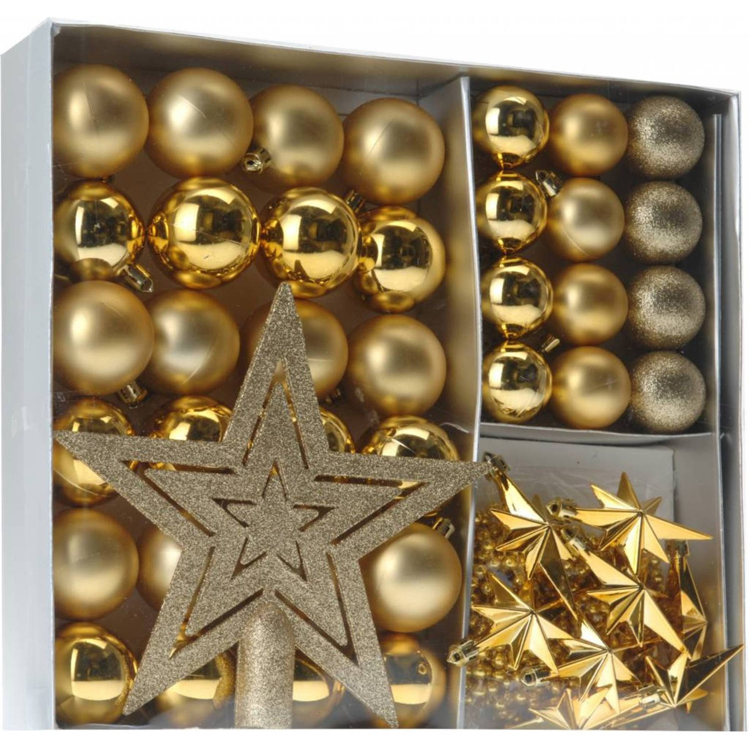 Home & Styling Kerstballen Set Goud 45-dlg