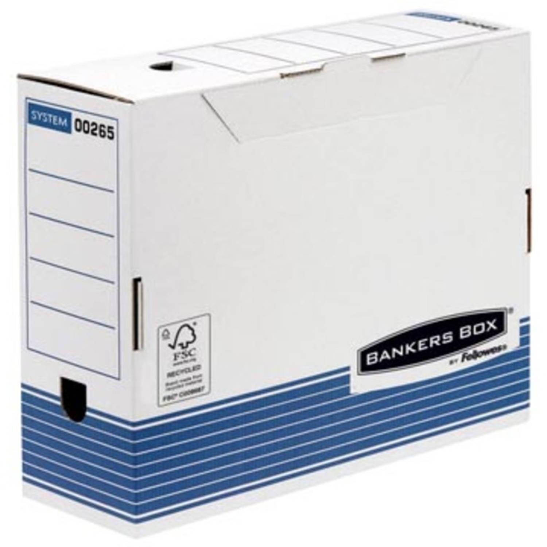 Archiefdoos Bankers Box standaard 100mm blauw-wit