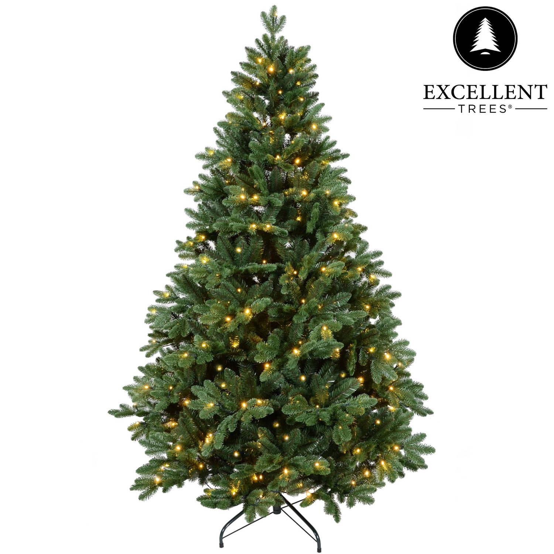 Kerstboom Excellent Trees® LED Mantorp 210 cm met verlichting - Luxe uitvoering -380 Lampjes