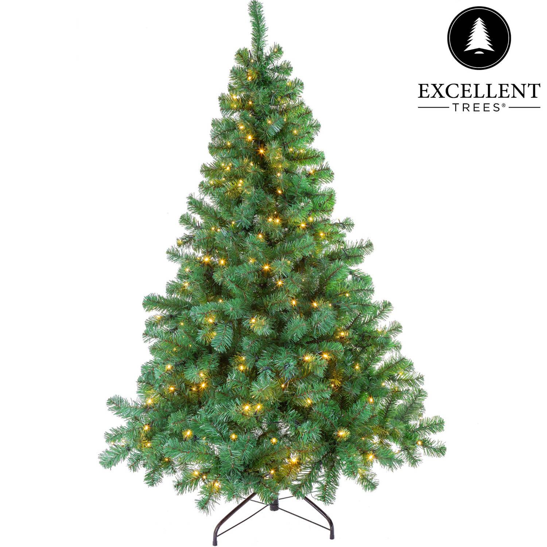 Kerstboom Excellent Trees® LED Stavanger Green 150 cm met verlichting - Luxe uitvoering - 250 Lampjes