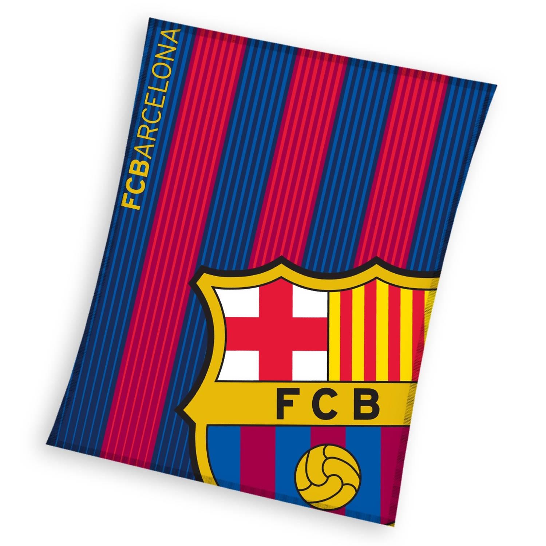 FC Barcelona fleece-deken blauw/rood 130 x 160 cm
