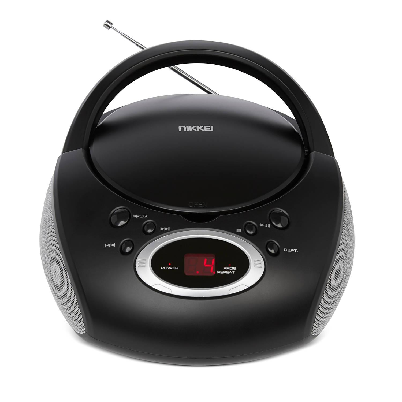 Nikkei draagbare radio-CD speler zwart