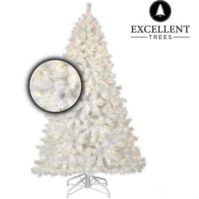 Witte kerstboom Excellent Trees® LED Stavanger White 150 cm met verlichting - Luxe uitvoering - 250 Lampjes