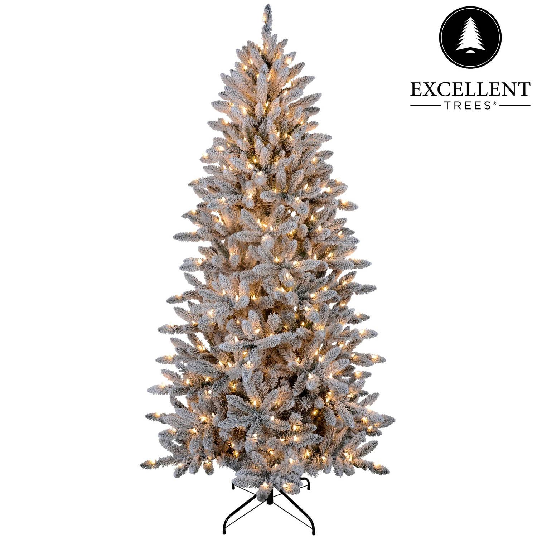 Kerstboom Excellent Trees® LED Visby 210 cm met verlichting Luxe uitvoering 360 Lampjes