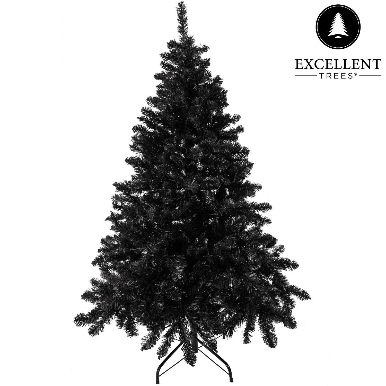 Zwarte kerstboom Excellent Trees® Stavanger Black 240 cm - Luxe uitvoering