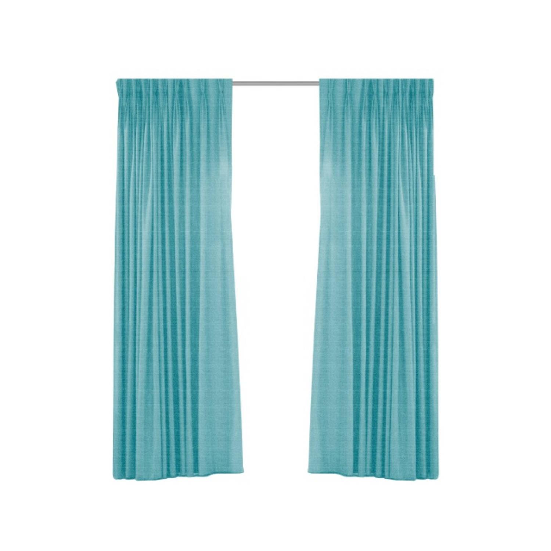 Geweven verduisterend gordijn-Larson-Mint Turquoise-Ringen- 300x250 cm