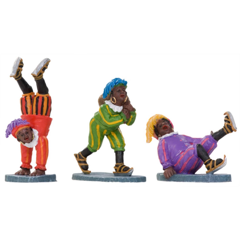 Zwarte Pieten op schaatsen set-3